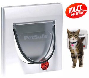 PetSafe Staywell 4 Way Locking Classic Cat Flap, Tunnel included, Easy Install,