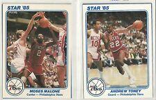 1985 Star Company 5X7 Philadelphia 76ers Starting Five 5-card NBA Set   Barkley