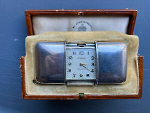 Movado Ermeto Chronometre Pocket Watch - Sterling silver with original box