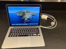 Apple Macbook Pro Retina 13inch 500GB SSD Silver macOS Catalina 10.15 Used 2013