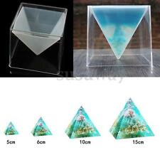 DIY Resin Craft Jewelry Super Pyramid Silicone Mould Making Mold + Plastic Frame