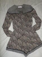 ZIMMERMANN Nightmarch Floral Playsuit Splice Size 0 US 2-4 RRP $450