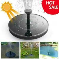 Solar Powered Floating Pump Water Fountain Birdbath Home Pool Gardens Decor