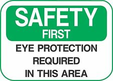 """SAFETY EYE PROTECTION  (5 Pack) 3.5"""" x 5"""" Label Sticker Sign Decal"""