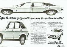 PUBLICITE ADVERTISING 0217  1978  Austin Leyland Allegro 7cv (2p)