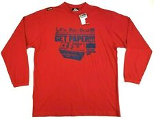 NWT Akademiks Long Sleeve Get Paper T-Shirt Men's Size Large L Red Free Shipping