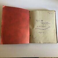 1940 Music Appreciation Scrapbook Newspaper Clippings School Project Vtg Milw A6