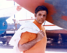JACK LORD 8X10 PHOTO BY PLANE FROM HAWAII FIVE-0