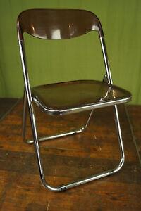 Folding Chair 70er Chrome Acrylic Chair Plexiglass Vintage Space Age 70s
