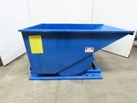 Iron Bull Jr 1 Yard 2,000# Capacity Heavy Duty Self Dumping Trash Scrap Hopper