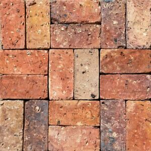 Rustic Antique South American Colombian Real Clay Brick Pavers Old Chicago 4x8x2