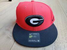 Nike True Mens Womens Red Black Georgia Bulldogs Dri-Fit Embroidered Hat Strap