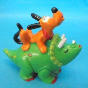 Disney Prehistorics STEINZEIT Pluto auf Dino TRICERATOPS Saurier Bullyland 1995