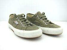 Superga Khaki Shoes Size 37 Canvas Puro Lino