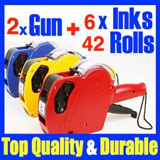 2 Price Pricing Gun Labeller 42 Labels Label & 6 Inks New mx 5500