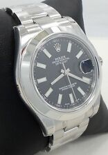Rolex Datejust II 116300 41mm Smooth Bezel Stainless Steel Black Dial *BRAND NEW