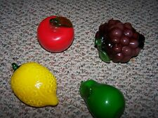 4 Vintages Pieces of Hand Blown Glass Fruit Murano?
