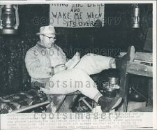 1960 Clarksburg WV Unemployed Man Lives in Abandoned Coal Mine Press Photo