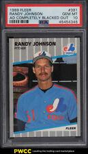 1989 Fleer Randy Johnson ROOKIE RC, AD BLACKED OUT #381 PSA 10 GEM MINT