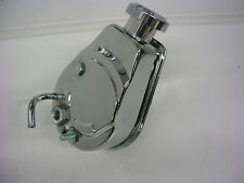 CHEVY FORD GM HOT ROD SAGINAW CHROME POWER STEERING PUMP A-CAN WITH BILLET CAP