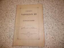 1858.L'empereur Napoléon III et l'Angleterre.La Gueronniere