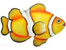 Recycled Metal Tropical Clown Fish Garden Wall Art Large 70cm Fence Pool Deck