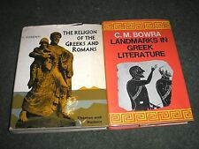 LOT 2 BOOKS-LANDMARKS IN GREEK LITERATURE & RELIGION OF THE GREEKS AND ROMANS