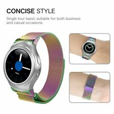 for Samsung Gear S2 Sm-r720/730 Bands Stainless Steel Wristband Strap -colorful