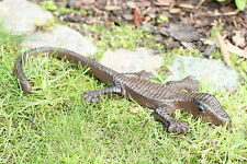 Gusseisen Gekko Salamander Eidechse Garten Deko Figur Skulptur Metall braun