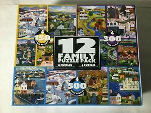 12-In-1 Family Puzzle Pack (Cardinal Ind) 150-500 Pcs 9 x 7 19 x 13 All Complete