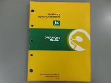 JOHN DEERE 916 ROTARY MOWER CONDITIONER OPERATORS MANUAL OME96580