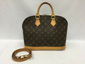 "Auth Louis Vuitton Vintage Monogram Alma Hand Bag with strap 1C310040n"""
