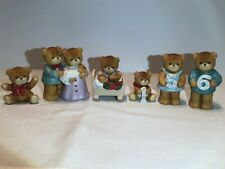 Vintage Lucy & Me Bears-Enesco-Six (6) no chips or cracks