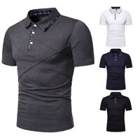 Men's Slim Fit Shirts Short Sleeve Casual Golf T-Shirt Jersey Tops Tee