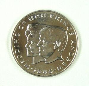 Samoa $1 Tala Coin, 1986, Uncirculated, Wedding of HRH Prince Andrew