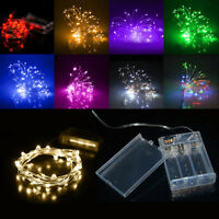 2/3/4/5/10m 3AA Battery Operated Mini LED Silver Copper Wire String Fairy Lights