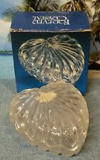 Forever Crystal Clear 24% Lead Crystal Heart Shaped Box - Made in Yugoslavia