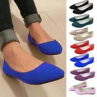 Womens Suede Soft Flat Loafers Ballet Ballerina Comfy Dolly Pumps Sizes Shoes