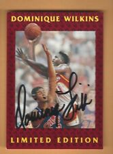 DOMINIQUE WILKINS 1992 FLEER  LIMITED EDITION AUTOGRAPH CARD #3 OF 12