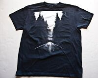 APT 9 THE LONG ENDLESS HIGHWAY T Shirt (Graphic Tee) Black Large Cotton Mens
