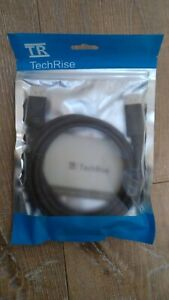 TechRise Display Port Hotron E 246588 DP Male to Male Cable 1.5 mt AWM 20276