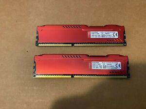 Kingston HyperX FURY 8GB Kit (2x4GB) 1866MHz DDR3 CL10 - Red (HX318C10FRK2/8)