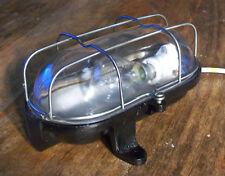 ANCIEN LAMPE HUBLOT OVALE FONTE NOIRE VERRE DESIGN INDUSTRIEL 50 1950 USINE
