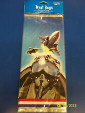 Fighter Pilot Planes Air Force Kids Birthday Party Favor Sacks Large Cello Bags