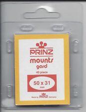 Package of 40 Prinz CLEAR Mounts 50 x 31