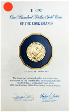 Cook Islands 1979 100 Dollars Gold Proof Coin