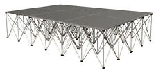 """IntelliStage ISTAGE12832 12'x8'x32"""" Carpeted Portable Stage Kit + Steps NEW"""