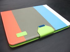 Hybrid PU Leather Wallet Flip Pouch Stand Case Hard Cover For iPad 2 3rd 4th Gen