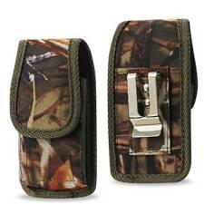 Camo Realtree Nylon Pouch Belt Clip Samsung Galaxy S5 I9600 w/Heavy Duty Case On