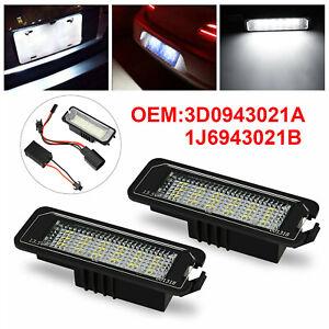 2x LED Number License Plate Light Lamp For VW GOLF MK4 MK5 MK6 MK7 Seat UK